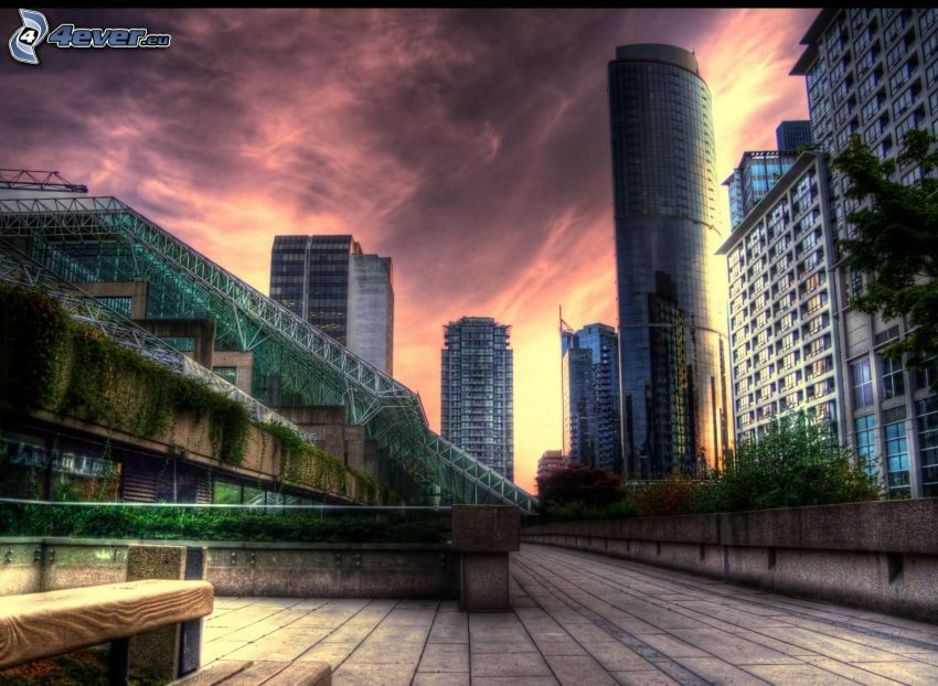 skyscrapers, HDR