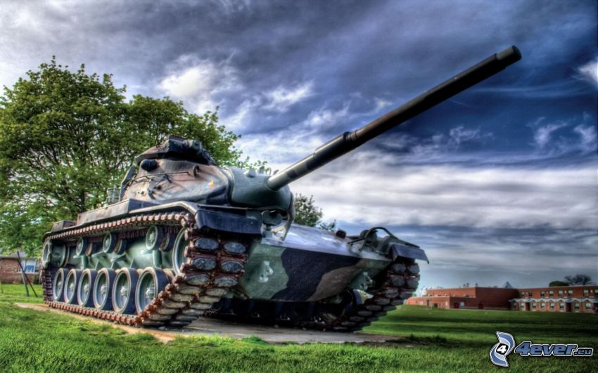 T-34, tank, HDR