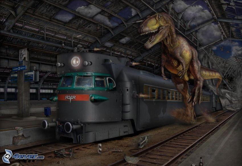 train, Tyrannosaurus