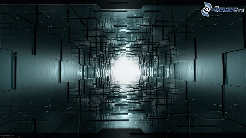 tunnel, squares, corridor