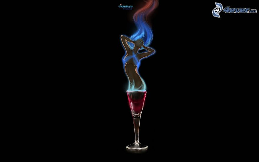 wine, woman
