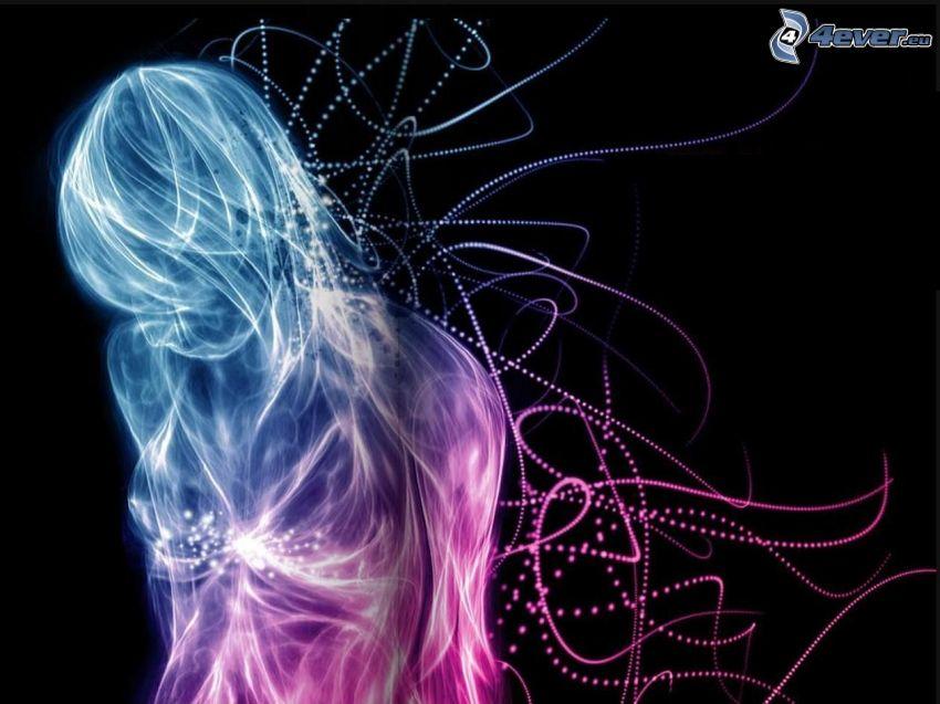 woman, fractal