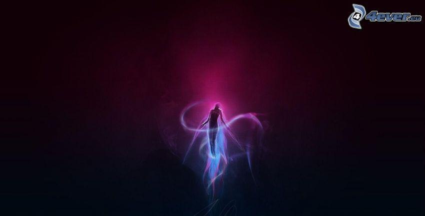 woman silhouette, glow