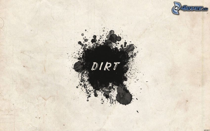 dirt, blot