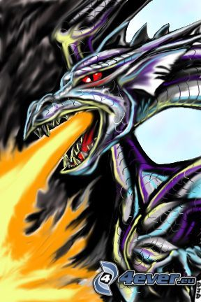 dragon, fire
