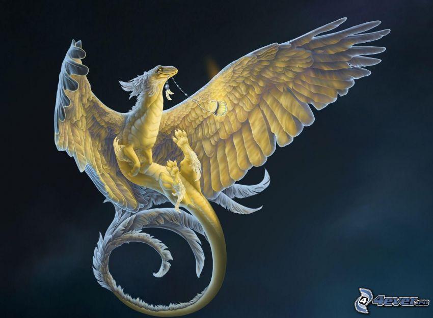 dragon, wings