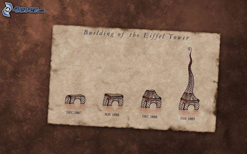 Eiffel Tower, construction, 1889