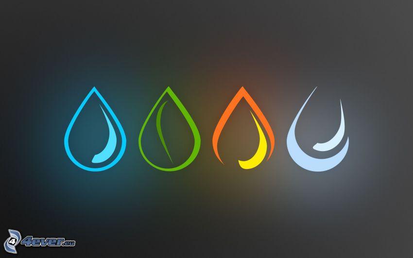 elements, drops