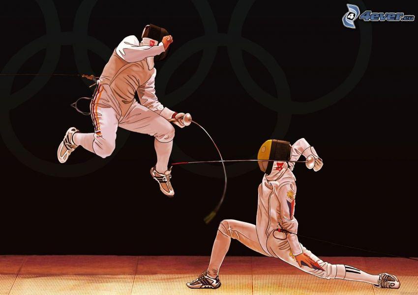 fencing, swordsmen