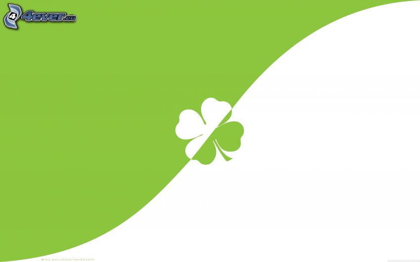 four-leaf clover, green background