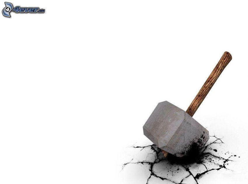 hammer, crack