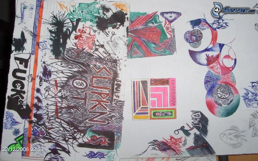 cartoon, abstract