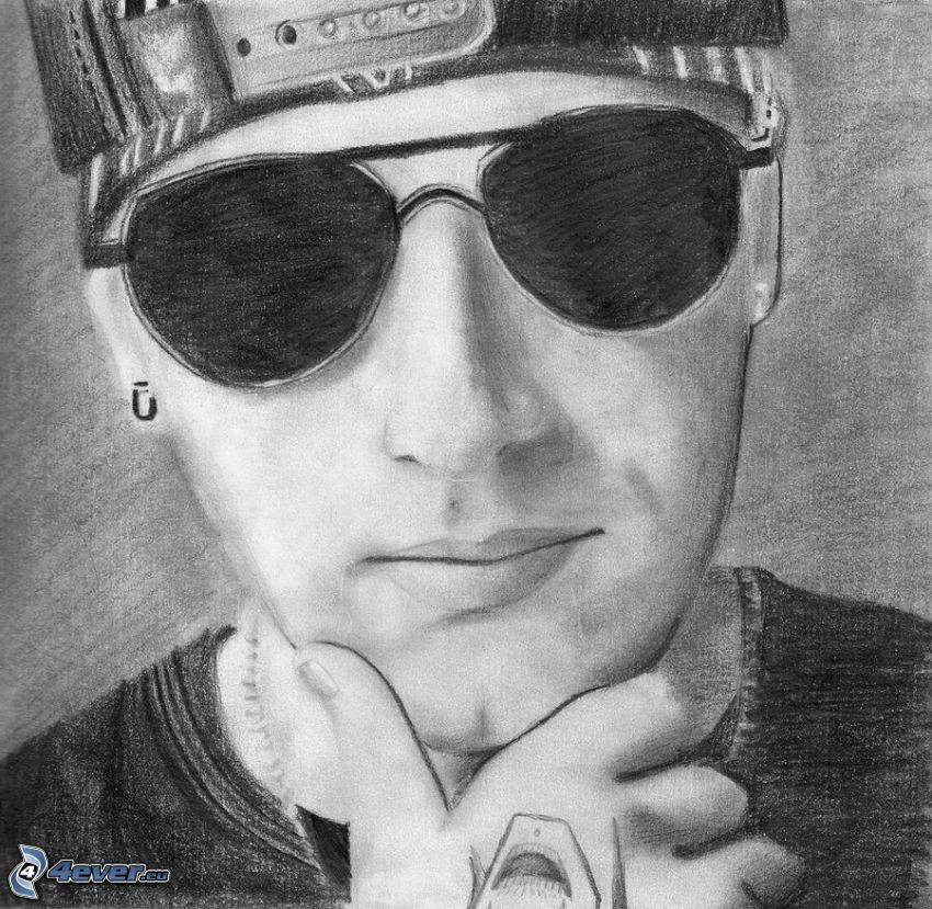 M. Shadows, sunglasses