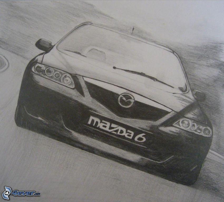 Mazda 6, cartoon