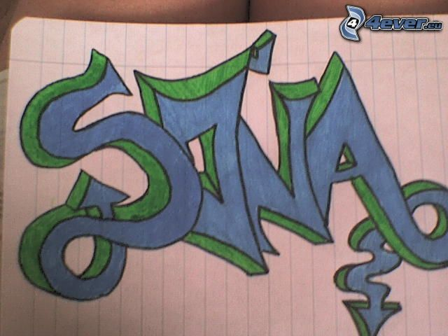 Soňa, graffiti