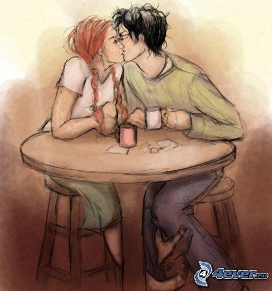 Harry Potter, Ginny Weasley, kiss, love