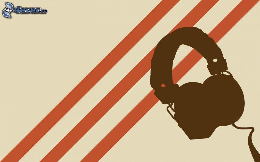 headphones, stripes