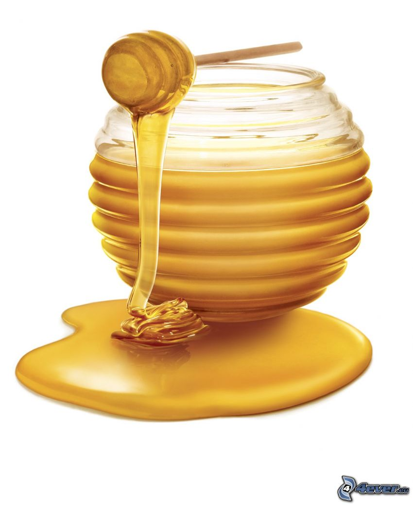 honey, wooden honey stick