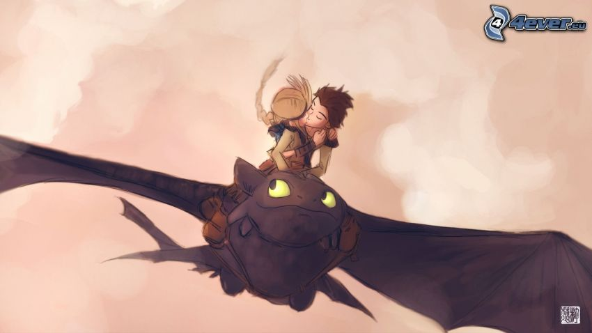 How to Train Your Dragon, kiss