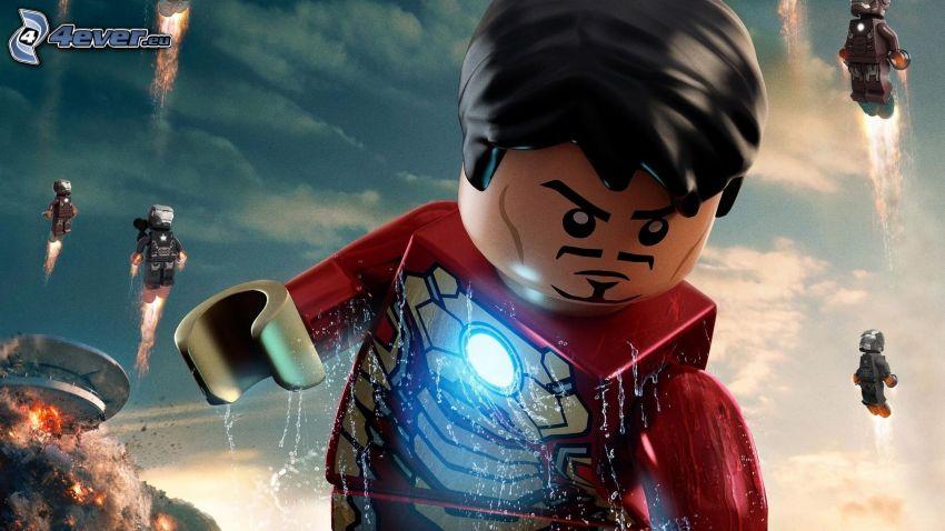 Iron Man, Lego, stickman