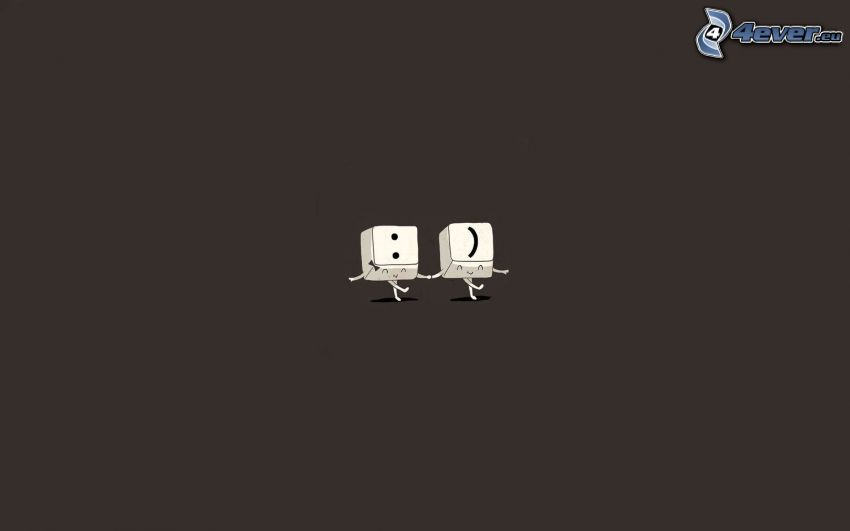 keys, smiley