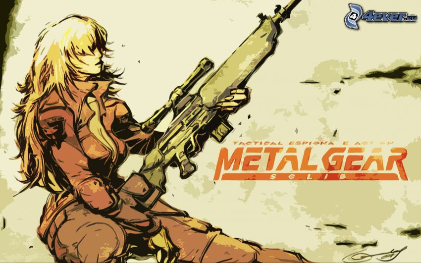 Metal Gear Solid, woman with a gun