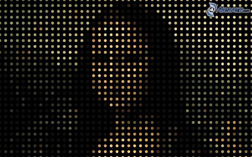 Mona Lisa, dots