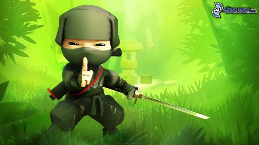 ninja, greenery