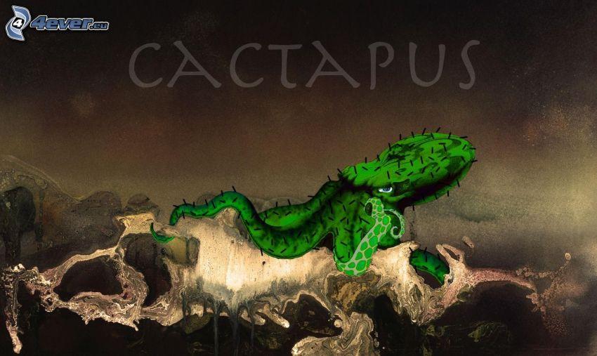 octopus, cactus