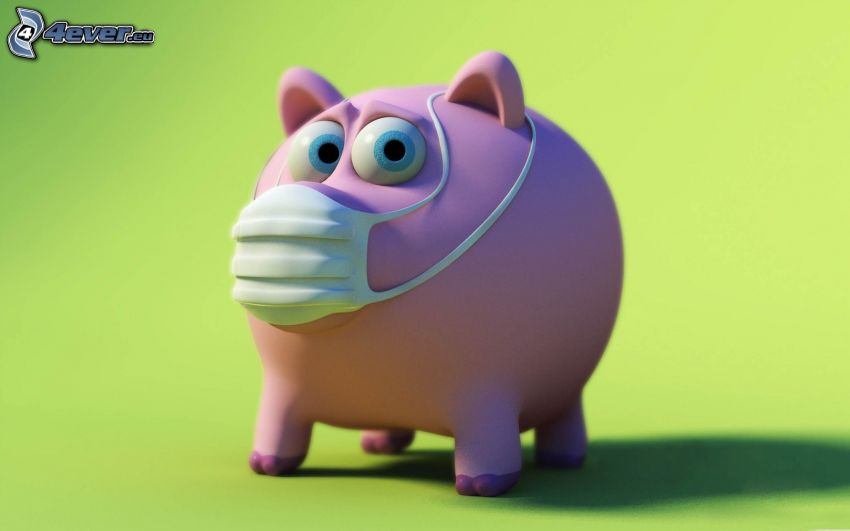 pig, mask