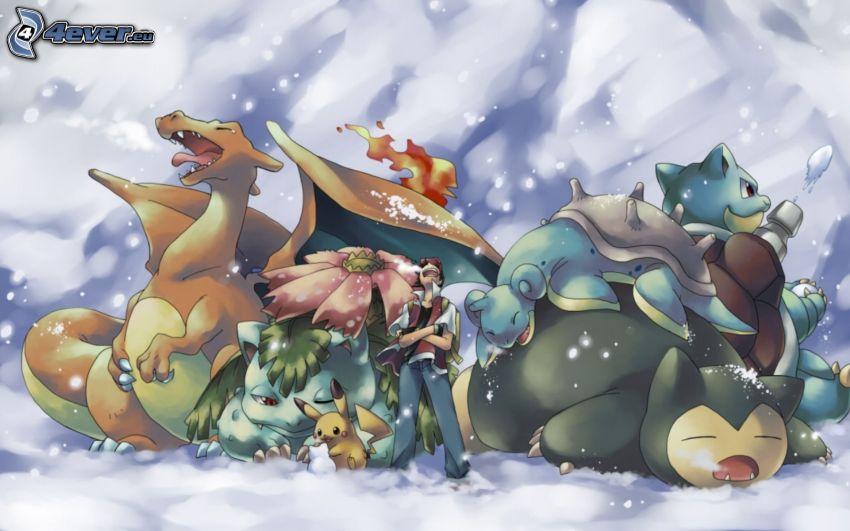 Pokémon, Venusaur, Pikachu, Blastoise, Lapras, Snorlax, Charizard