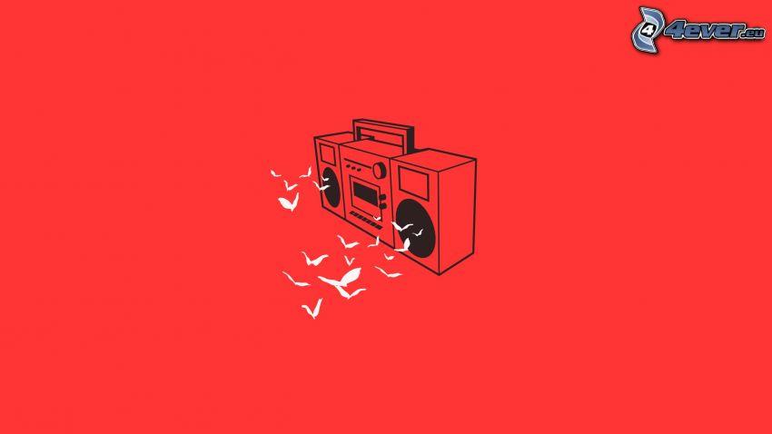 radio, birds
