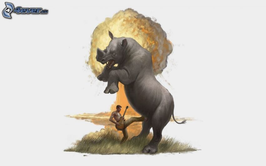 rhino, guitarist