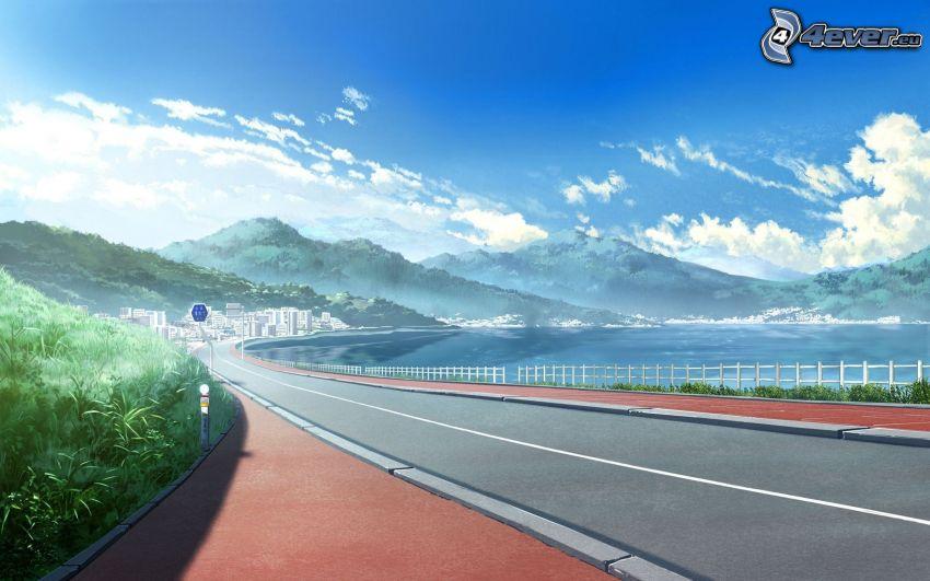 road, hills