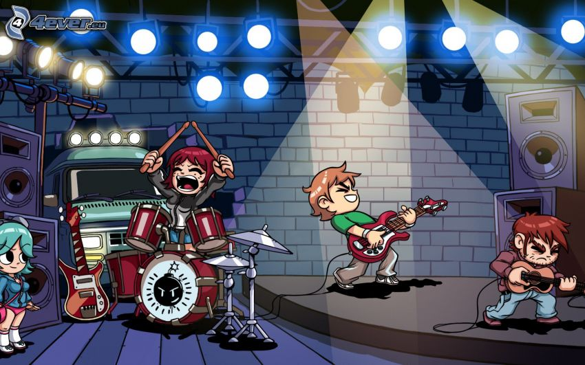 Scott Pilgrim, band, lights