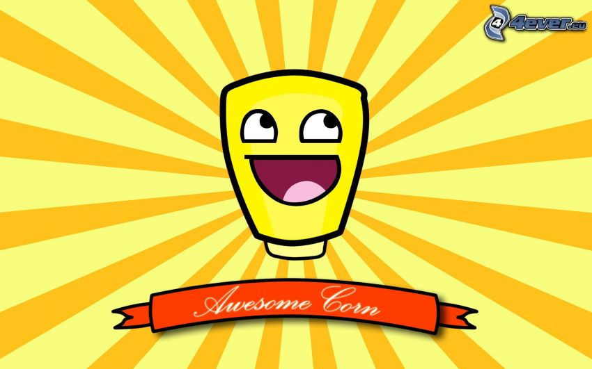 smiley, Awesome, corn