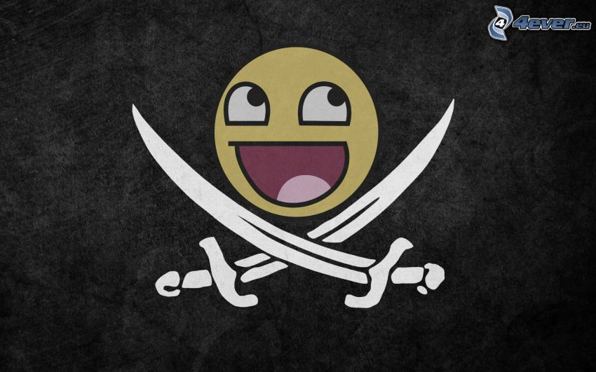 smiley, swords