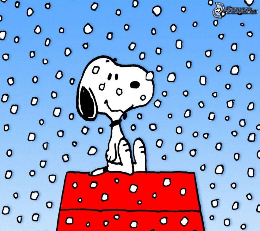Snoopy, snowflakes