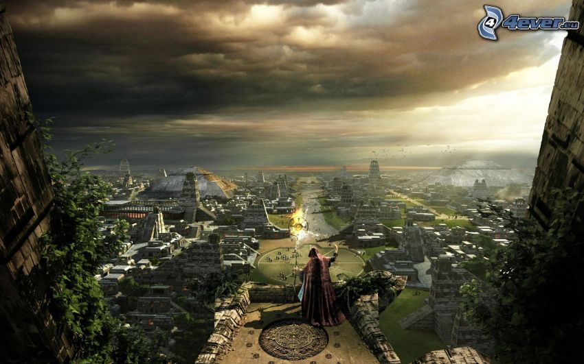 sorcerer, view of the city
