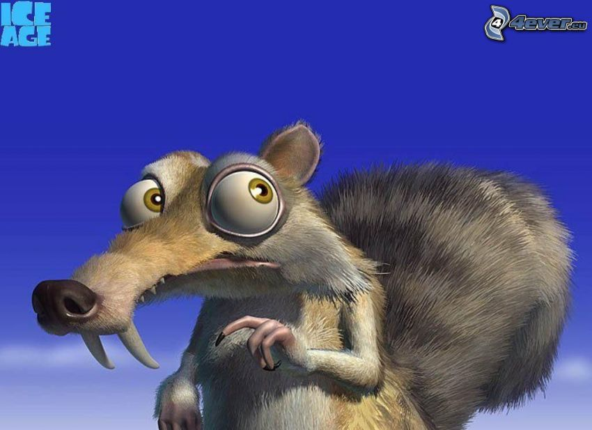 squirrel from the movie Ice Age, Ice Age