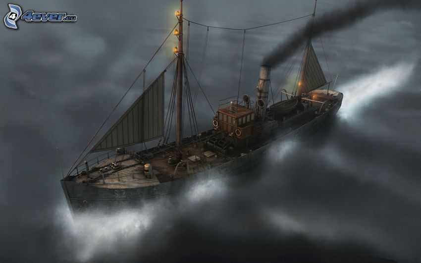 steamer, ship