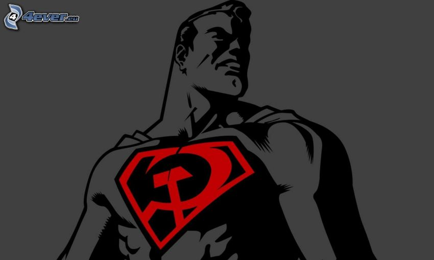Superman, hammer and sickle