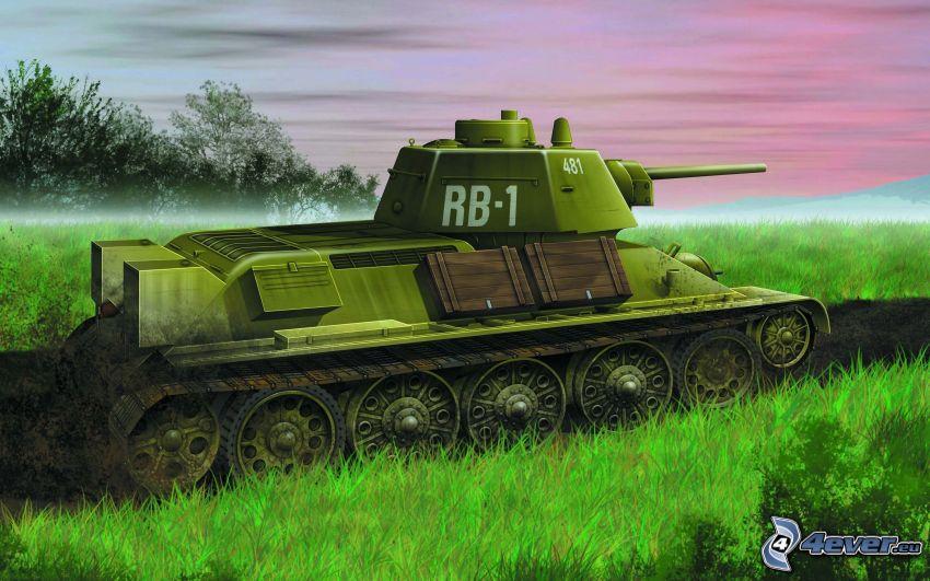 tank, T-34