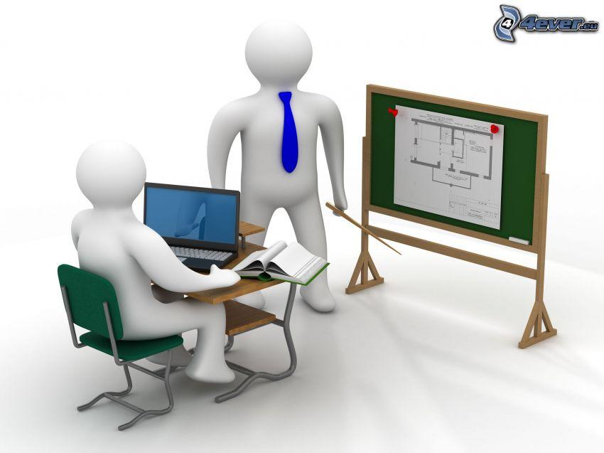 training, stickmans, described board