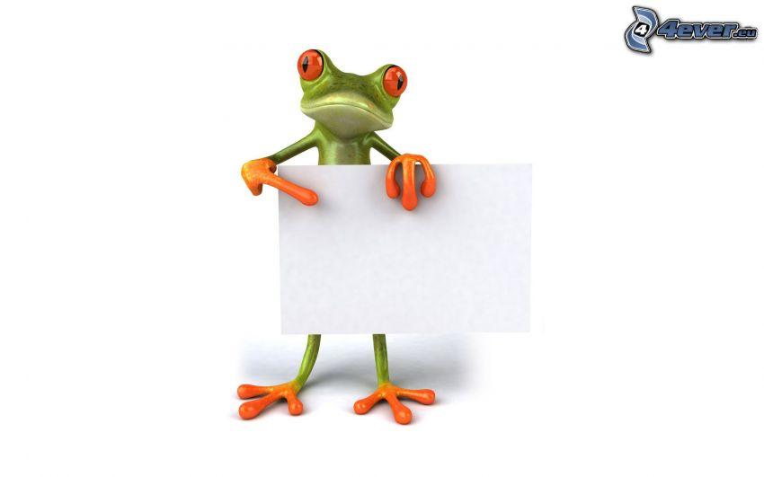 tree-frog, paper