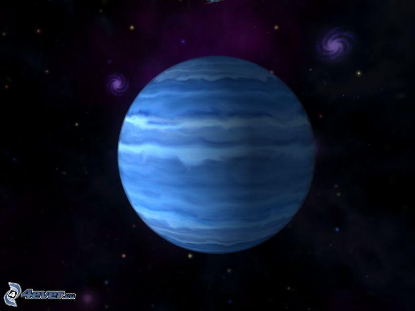 Uranus, galaxies