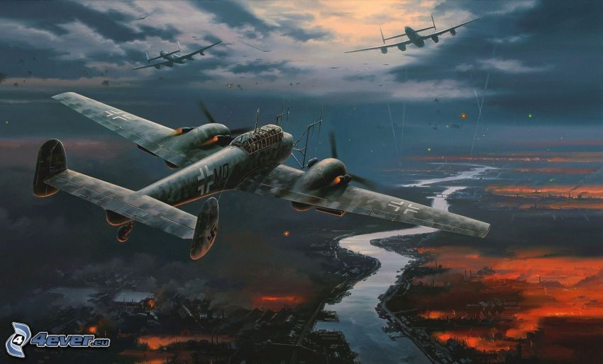 World War II, airplanes