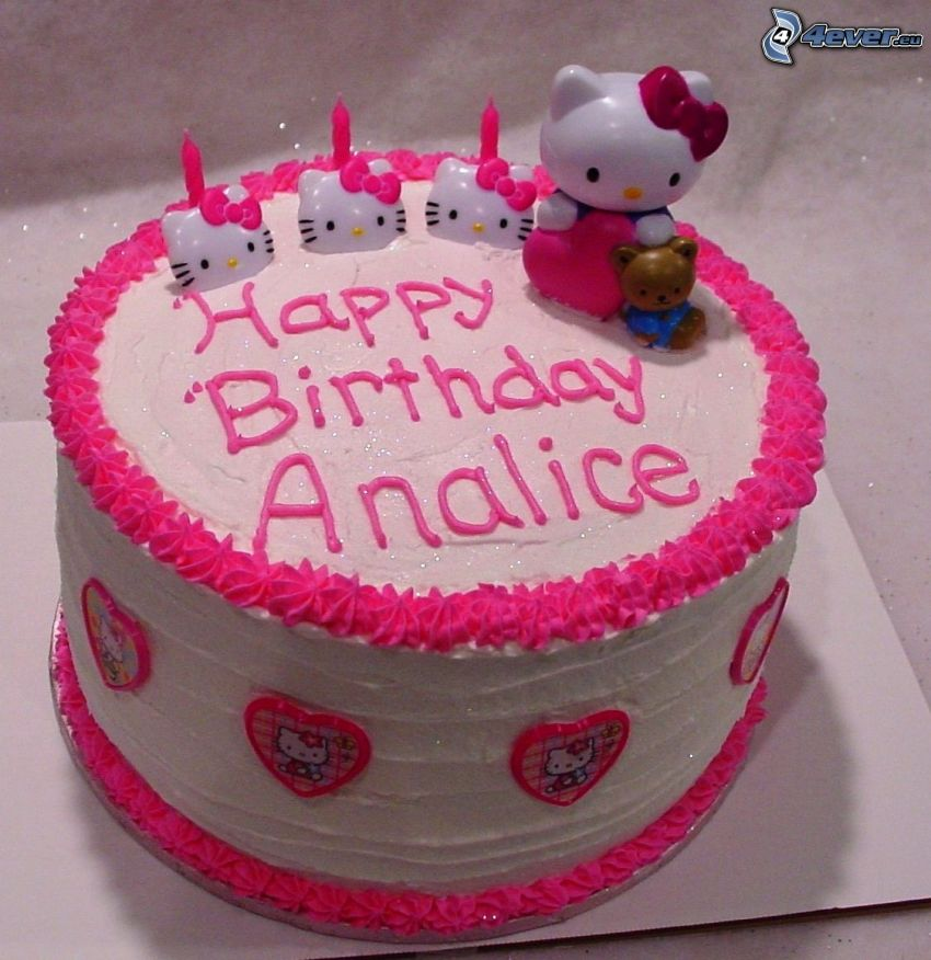 cake, Hello Kitty, birthday