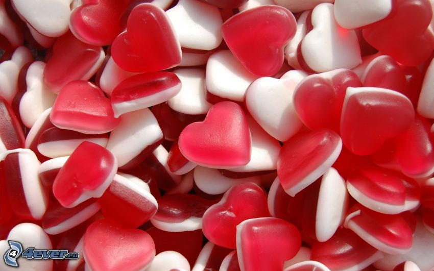 candy, hearts, jellies