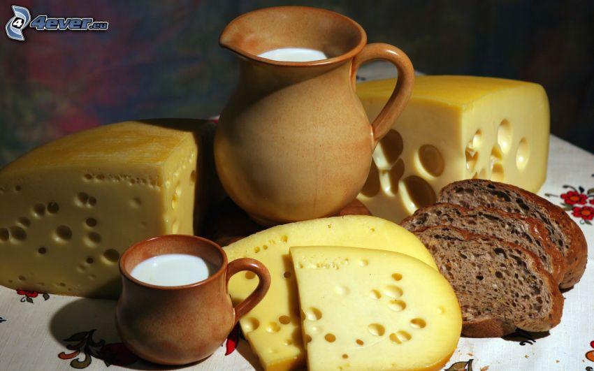 cheese, milk
